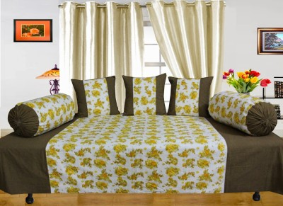 Dekor World Cotton Floral Diwan Set