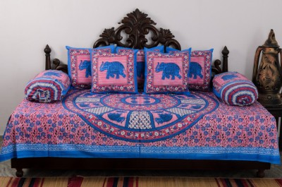 Vivid Rajasthan Cotton Abstract Diwan Set