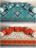 Kismat Collection Cotton Floral Diwan Set