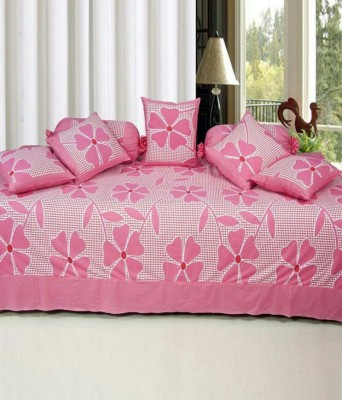 Jai Tulsi Cotton Abstract Double Bedsheet