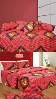 RedHot Cotton Abstract Diwan Set