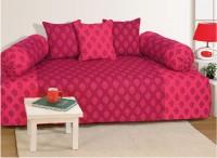 Swayam Cotton Abstract Diwan Set(2 Bolster Covers, 1 Diwan Sheet, 3 Cushion Covers)