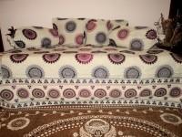 Amita Home Furnishing Polycotton Floral Diwan Set