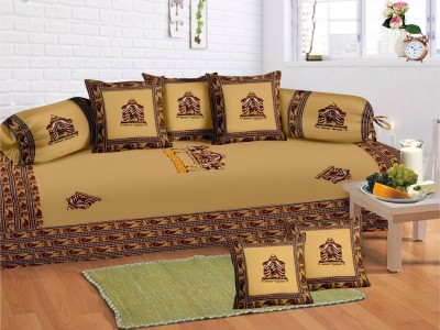 Bombay Spreads Cotton Embroidered Diwan Set