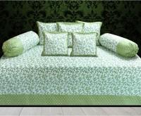 Glamora Interiors Cotton Floral Diwan Set