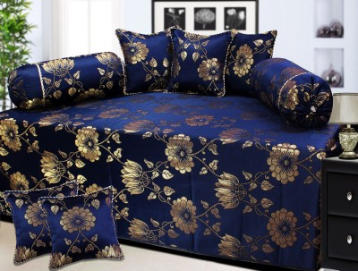 Milan Polycotton, Silk Floral Diwan Set