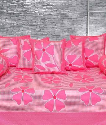 MEHAR HOME Cotton Floral Diwan Set