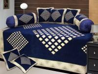 P Home Decor Chenille Checkered Diwan Set