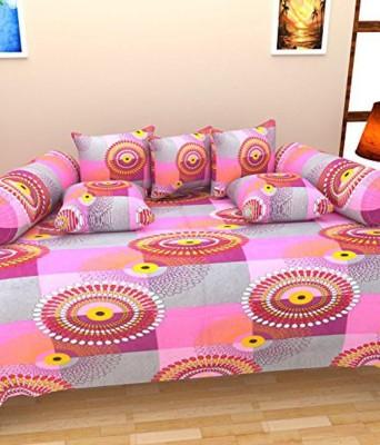 Aashiyana Sajona Cotton Geometric Diwan Set