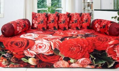 Vg store Velvet Floral Diwan Set