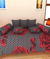 Shopgrab Cotton Floral Diwan Set