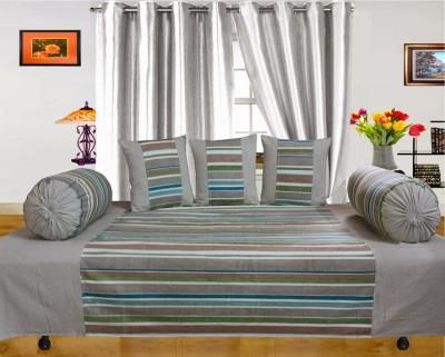 Dekor World Cotton Striped Diwan Set