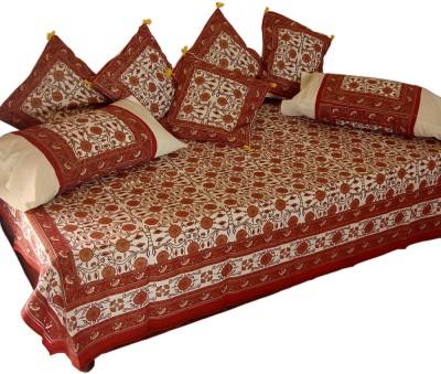 JaipurRaga Cotton Floral Diwan Set