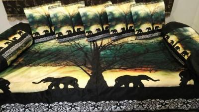 Kalakriti Creations Velvet Animal Diwan Set