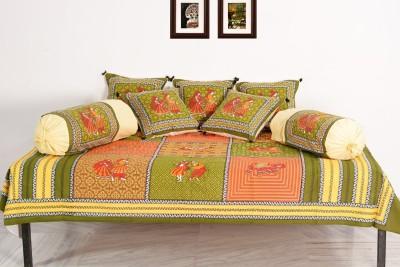 Vivid Rajasthan Cotton Animal Diwan Set