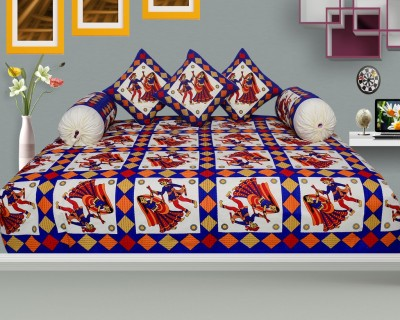 Easy Clean Cotton Abstract Diwan Set