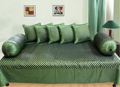 Saaz Dekor Polyester Geometric Diwan Set