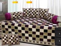 iTrend India Velvet Checkered Diwan Set