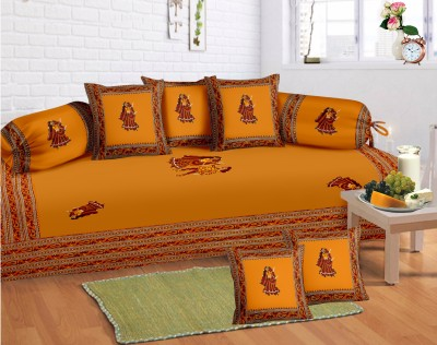Lali Prints Cotton Embroidered Diwan Set