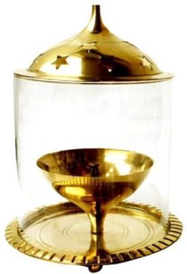 Inspiration World Brass, Glass Table Diya