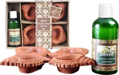 Omved Terracotta Table Diya Set