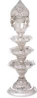 Goldmart Samai Silver Table Diya(Height: 6.5 inch)