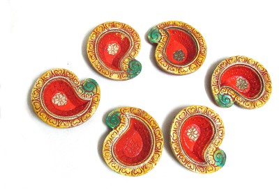 Mable Terracotta Table Diya Set
