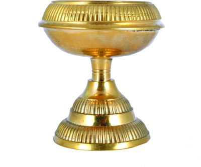 Lime Brass Kerala Fancy Deepa Brass Table Diya