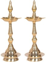 VISHNU KERLA FANCY Brass Table Diya Set(Height: 11 inch, Pack of 2)