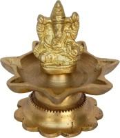 Aakrati Ganesha with deepak handmade metal handicrafts Brass Table Diya(Height: 3 inch)