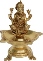 Aakrati Laxmi Brass Deepak/ Oil Lamp Brass Table Diya(Height: 7.9 inch)