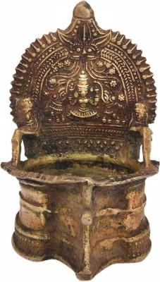 IndianShelf Brass Table Diya(Height: 5.3 inch)