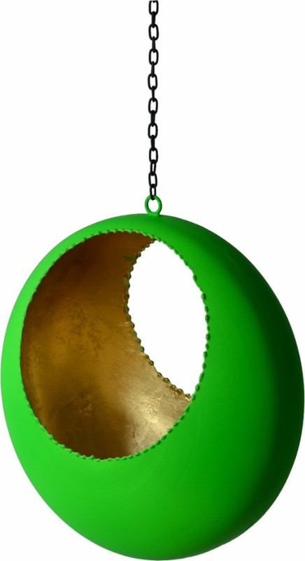 Kreative Art's Green Iron Lantern(7 cm X 4 cm, Pack of 1)