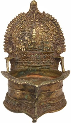 IndianShelf Brass Table Diya(Height: 5.4 inch)