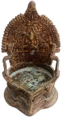 IndianShelf Brass Table Diya(Height: 5.6 inch)