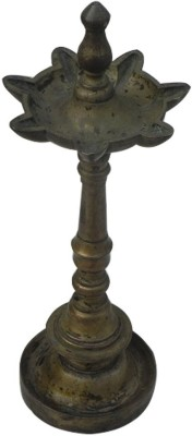IndianShelf Brass Table Diya(Height: 11.5 inch)