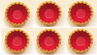 Sita Diwali Terracotta Table Diya Set(Height- 1 inch, Pack of 6)