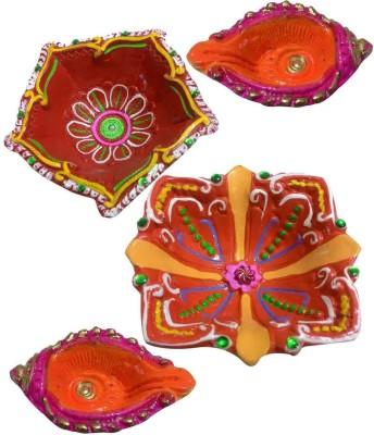 Laviva Earthenware Table Diya Set