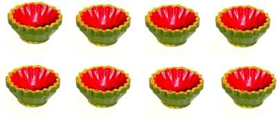 Sita Diwali Terracotta Table Diya Set(Height- 1 inch, Pack of 8)