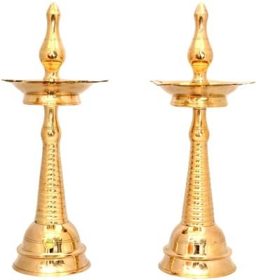 The Ethnic Story Brass Table Diya Set