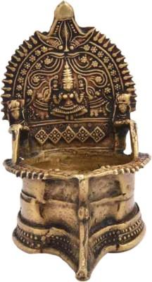 IndianShelf Brass Table Diya(Height: 5.5 inch)