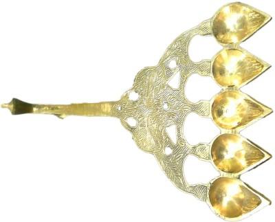 Divine Temples (30 cm) Brass Table Diya
