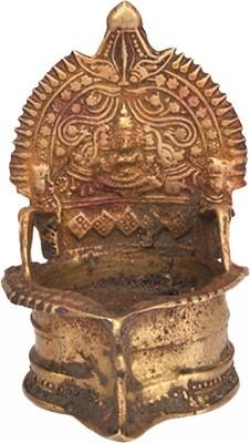 IndianShelf Brass Table Diya(Height: 5.2 inch)