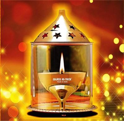Glass Hi-Tech Brass Table Diya