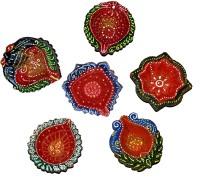 DakshCraft Gorgeously Handmade Decorative Diwali Diya Terracotta Table Diya Set(Height: 1 inch, Pack of 6)