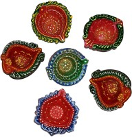 DakshCraft Gorgeously Hand Crafted Decorative Diwali Terracotta Table Diya Set(Height: 1 inch, Pack of 6)