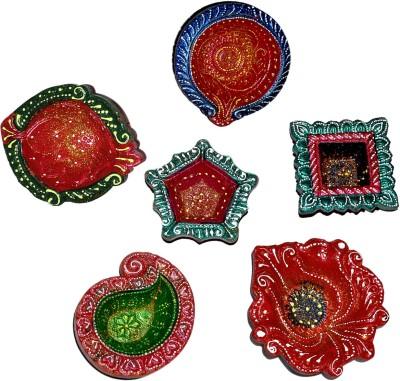 Dakshcraft Traditional Terracotta Handmade Diwali Terracotta Table Diya Set