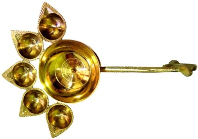 Divine Temples Artistic (24 cms) Brass Table Diya
