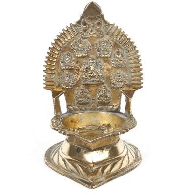 IndianShelf Brass Table Diya(Height: 4.75 inch)