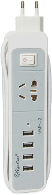 Signature VMH-2 4 USB Ports + Socket With 4.0A Charging Dock(White)